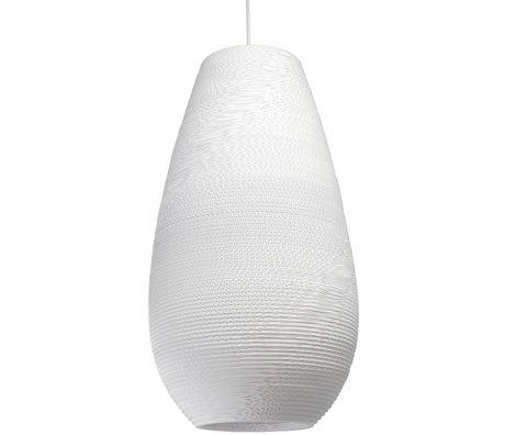 Graypants Tropfen hängende Hängelampe 26 weiße Pappe Ø36x65cm