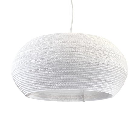 Graypants Ohio 24 pendant lamp Pendant white cardboard Ø61x24cm