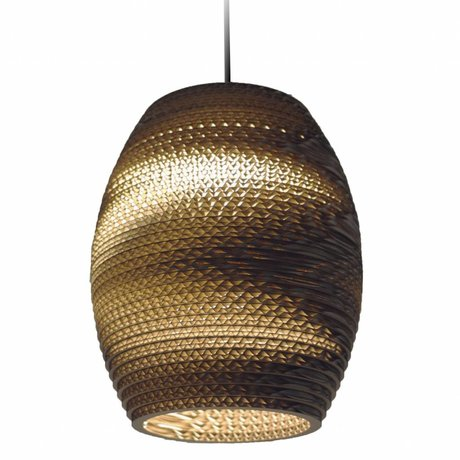 Graypants Hanglamp Olive Natural bruin karton Ø19x22cm