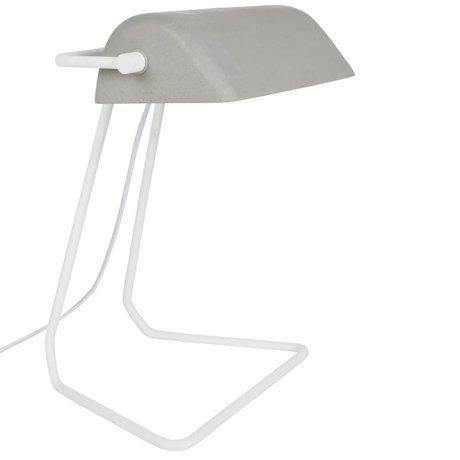 Zuiver Table Lamp Broker white gray iron 30x20,5x35cm