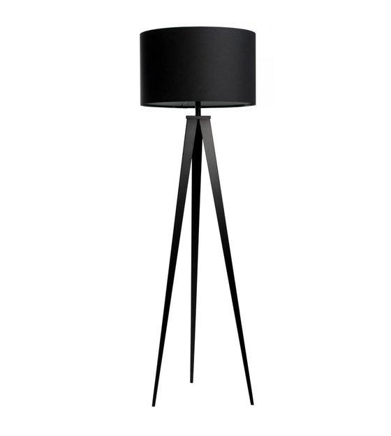 zuiver vloerlamp tripod zwart textiel metaal 157x50cm. Black Bedroom Furniture Sets. Home Design Ideas