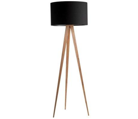 Zuiver Vloerlamp tripod naturel hout zwart 151x50cm
