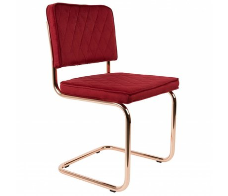 Zuiver Chaise diamant rouge polyester 48x48x85cm