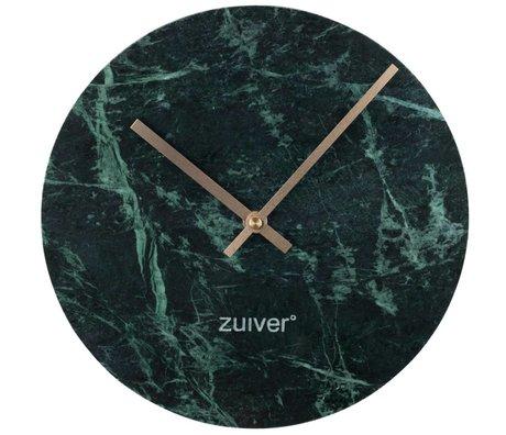 Zuiver Marbre horloge or vert marbre aluminium Ø25x4,5cm