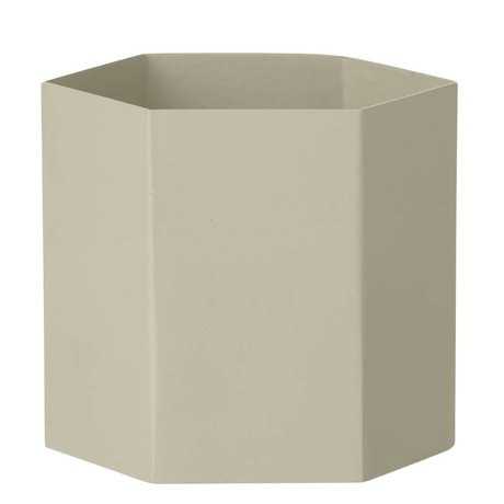 Ferm Living Pot Hexagon grijs Ø13,5x12cm- Large