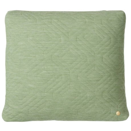 Ferm Living Cushion Quilted green 45x45cm