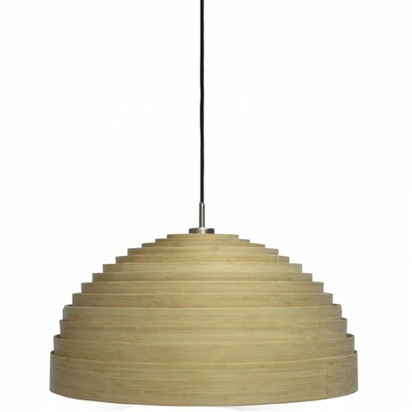 Ay Illuminate Large pendant lamp Lump natural brown bamboo ø97x50cm