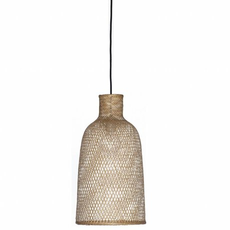 Ay Illuminate Bamboo Hanging Lamp M2 natural brown bamboo ø30x55cm
