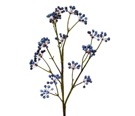 HK-living Decoration blueberries branch 72cm