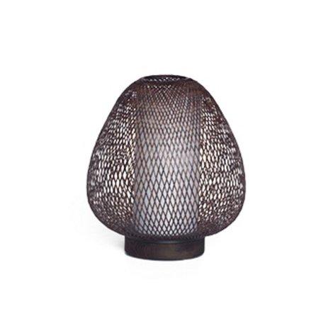 Ay Illuminate Tafellamp Twiggy AW bruin bamboe Ø30x35cm