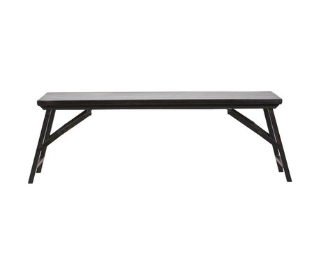 BePureHome Fold Up Bench schwarz Metall Holz 46x130x35cm