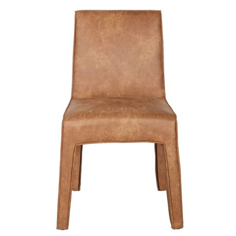 BePureHome Dining chair Cacoon cognac brown leather plastic 92x56x65cm