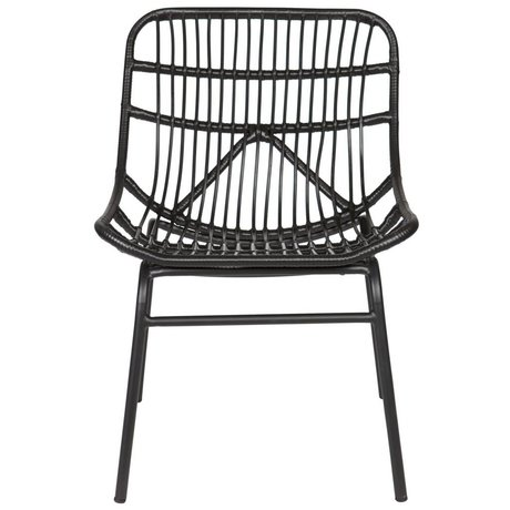 BePureHome Chat chair black plastic metal 83x58x69cm