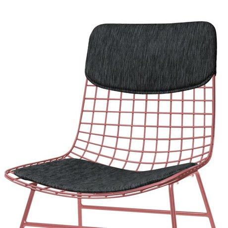 HK-living Comfort Kit for black metal wire chair