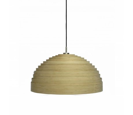 Ay Illuminate Hanglamp Lump Small naturel bruin bamboe ø50x25cm