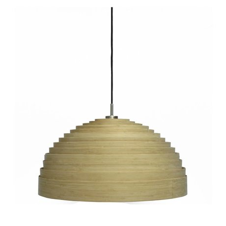 Ay Illuminate Hanging lamp Lump Medium Natural brown bamboo ø75x38cm