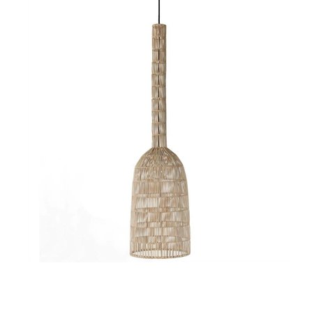 Ay Illuminate Hanging lamp Umut 2 Natural brown rattan ø30x121cm