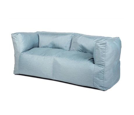 BRYCK Lounge Sofa Couch ICEblues blue textile 175x75x75cm