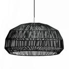 Ay Illuminate Hanglamp Nama 1 zwart rotan ø72x36,5cm