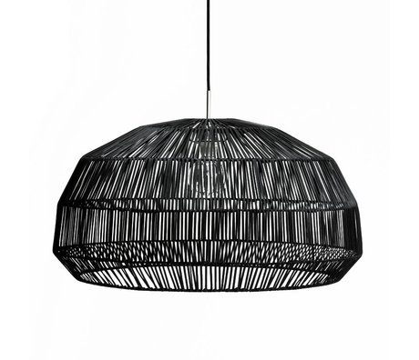 Ay Illuminate Hanging lamp Nama first black rattan ø72x36,5cm