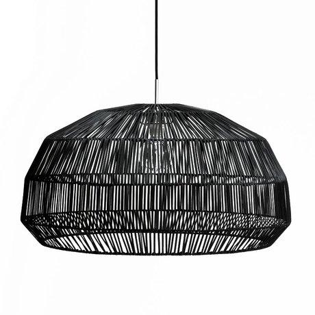 Ay Illuminate Suspension Nama premier rotin ø72x36,5cm noir