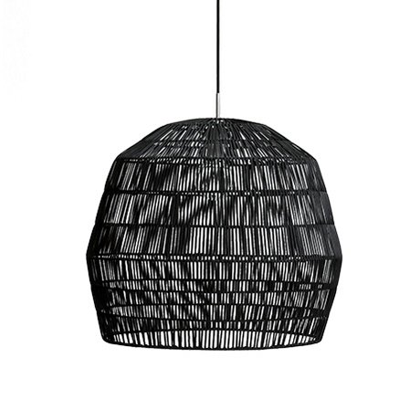 Ay Illuminate Suspension Nama deux rotin ø58x51cm noir