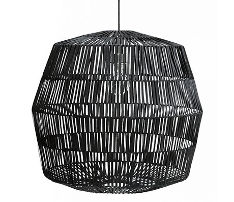 Ay Illuminate Hanging lamp Nama 4 black rattan ø72x69cm