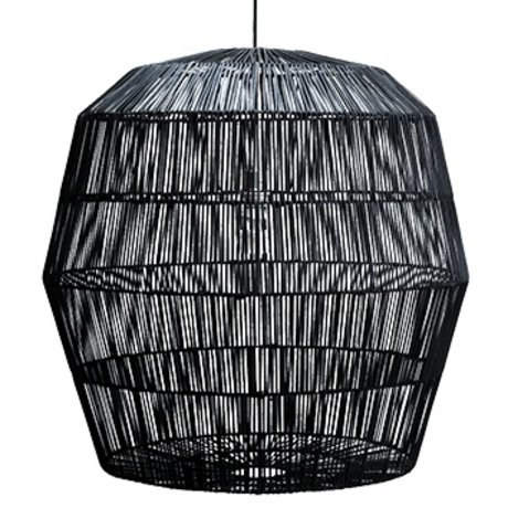 Ay Illuminate Hanging lamp Nama five black rattan ø78x78cm