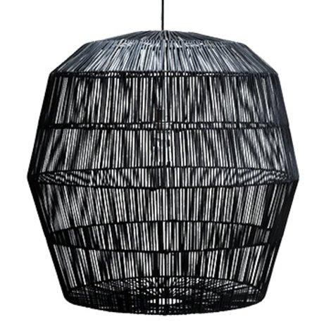 Ay Illuminate Suspension Nama cinq noir rotin ø78x78cm