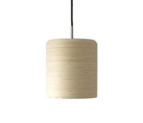 Ay Illuminate Hanglamp Zero naturel bruin bamboe ø22x24cm