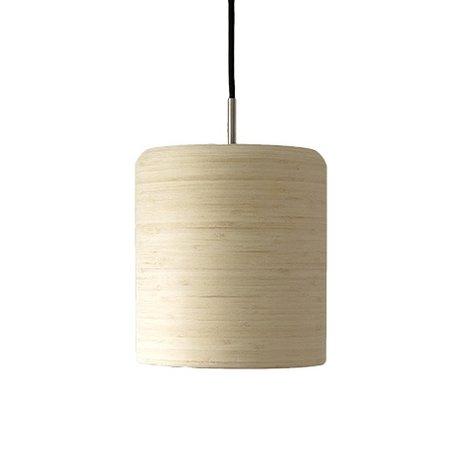 Ay Illuminate Pendelleuchte Zero natürlichen braunen Bambus ø22x24cm