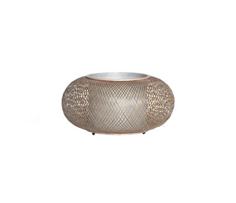 Ay Illuminate Lampe de table Twiggy naturelle Ø40x19cm de bambou brun