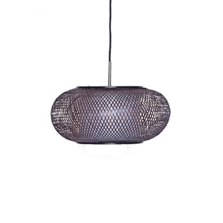 ay illuminate hanglamp may small bruin bamboe à 70x42cm