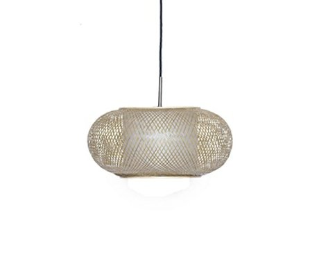 Ay Illuminate Hanglamp Twiggy AL Shade naturel bruin bamboe Ø40x19cm