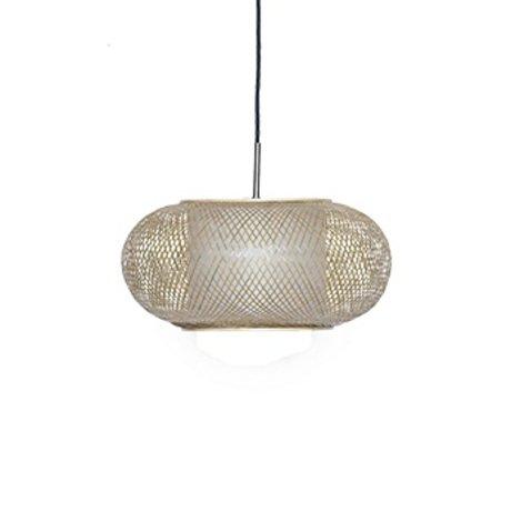 Ay Illuminate lampe suspension Shade Twiggy G naturelle Ø40x19cm de bambou brun