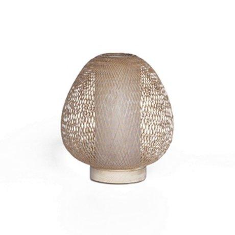 Ay Illuminate Lampe de table Twiggy AW naturelle Ø30x35cm de bambou brun