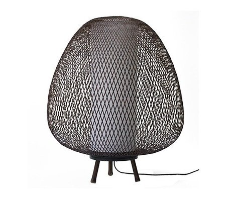 Ay Illuminate Table Lamp Twiggy Egg brown bamboo Ø60x70cm