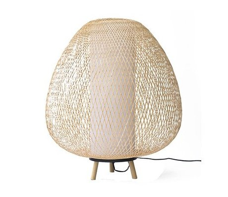 Ay Illuminate Table Lamp Twiggy Egg natural brown bamboo Ø60x70cm
