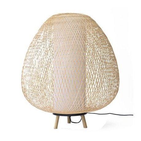 Ay Illuminate Tafellamp Twiggy Egg naturel bruin bamboe Ø60x70cm