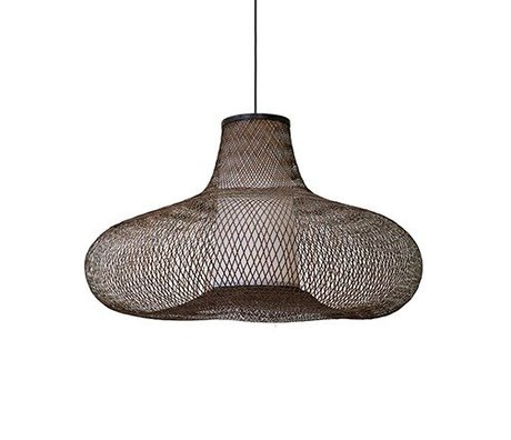 Ay Illuminate May pendant lamp small brown bamboo Ø70x42cm
