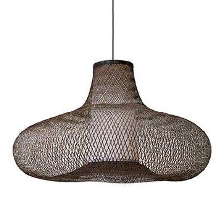 Ay Illuminate May pendant lamp large brown bamboo Ø95x56cm