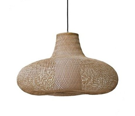 Ay Illuminate May pendant lamp natural small brown bamboo Ø70x42cm