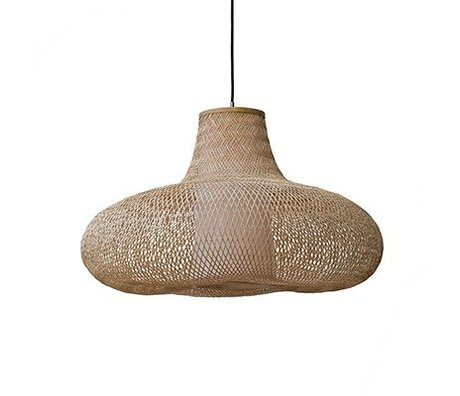 Ay Illuminate Hanglamp May large naturel bruin bamboe Ø95x56cm