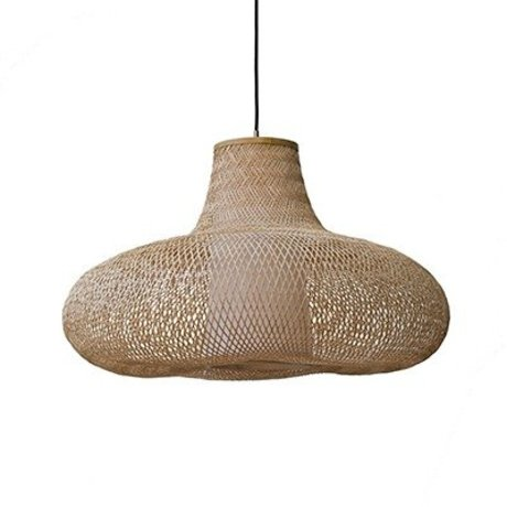 Ay Illuminate May pendant lamp large natural brown bamboo Ø95x56cm