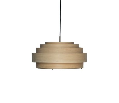 Ay Illuminate Thin pendant light medium natural brown bamboo Ø50x23cm