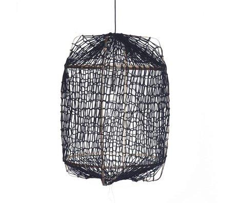Ay Illuminate Pendant lamp Z1 black bamboo ø67x100cm
