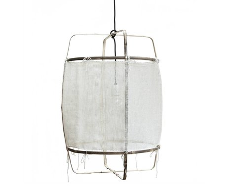 Ay Illuminate Pendant lamp Z11 natural white bamboo cashmere cover ø48.5x72,5cm