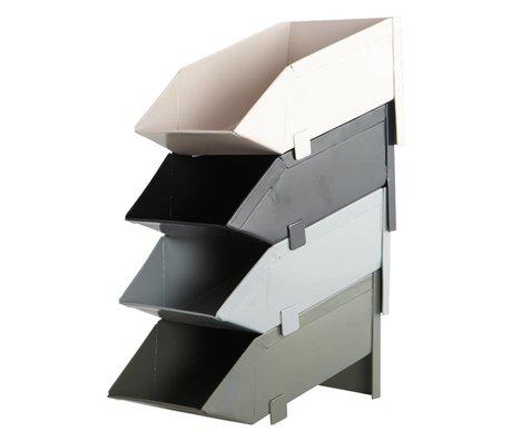 Housedoctor Storage Tray gray metal 21x11cm