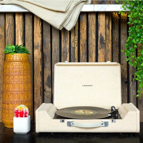 Crosley Radio Crosley Nomad Portable Turntable wood brown 61x14x33cm