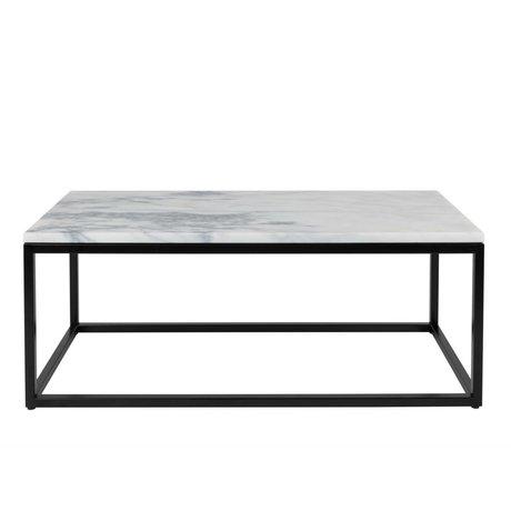 Zuiver marbre en marbre table basse puissance 90x40x35cm